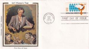 1975, Int'l Women's Year, Colorano Silk, FCD (E11853)