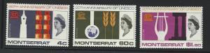 Montserrat  mint hinged SC  186 - 188