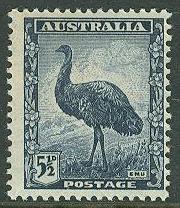 Australia # 196 Emu  5½d. definitive (1) Unused LH