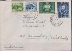 Austria #562, 565 Used On Cover (B4490L)