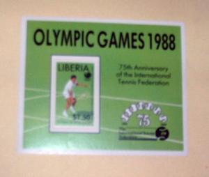Liberia - 1096, MNH S/S. Tennis. SCV - $3.00
