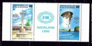New Caledonia C219a MNH 1990 Pair with label