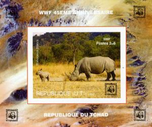 CHAD 2006 WWF 45th. Anniversary Rhino Deluxe s/s Mint (NH) #1