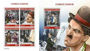 Z08 IMPERF DJB190514ab DJIBOUTI 2019 Charlie Chaplin MNH ** Postfrisch