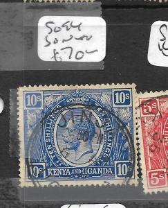 KENYA AND  UGANDA  (P0609B) KGV 10/-  SG94 JINJA SON  CDS  VFU