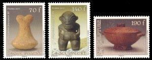 French Polynesia 2011 Scott #1055-1057 Mint Never Hinged