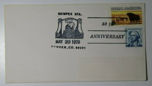 ROMPEX Sta 50th Anniv Moffat Tunnel Denver CO 1978 Philatelic Expo Cachet Cover