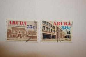 Aruba 1992. 'Centenary Postal Service'. SG108/109. UNH