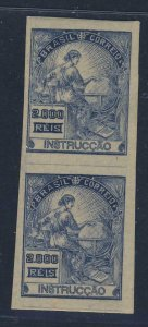 22005 BRAZIL 1934 MNH IMPERFORATED V-PAIR RHM # 294Es-SD - VALUE US$ 160.00