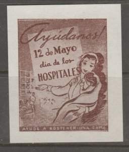 Cinderella revenue fiscal stamp 9-9-50 Spain? Medical