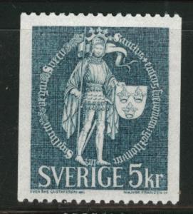 SWEDEN Scott 755 MNH**  5Kr 1970 coil