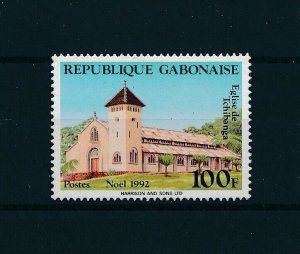 [104732] Gabon 1992 Christmas Weihnachten church  MNH