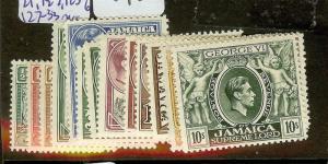 JAMAICA (P2012B) KGVI  SG121, 122, 123-6, 127-33  MOG