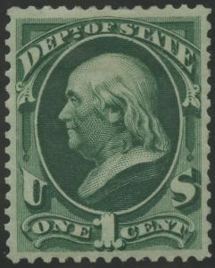 #O57 1¢ VF OG LH DEPT OF STATE CV $260 BS12