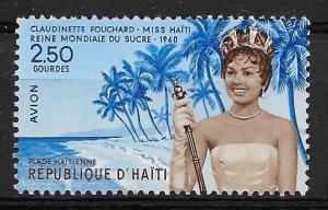 1960 Haiti C162  2.50g Miss Haiti/Sugar Queen  MNH