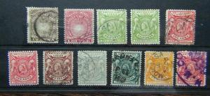 British East Africa 1890 1R 1896 values to 4R Used