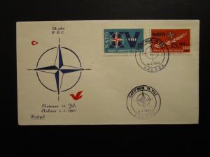 Turkey 1964 NATO Series FDC / Halepli Cachet - Z7010
