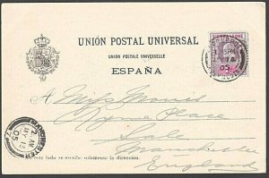 SIERRA LEONE 1905 postcard EVII 1d cancelled PAQUEBOT / PLYMOUTH cds........7645
