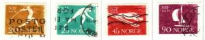 Norway Sc 389-92 1961 Sports stamps used