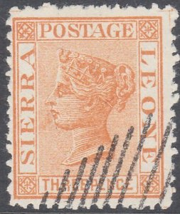 SIERRA LEONE  An old forgery of a classic stamp.............................C789