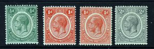 NYASALAND KG V 1913-21 A Watermark Multiple Crown CA Group SG 83 to SG 87 MINT