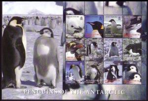BAT Birds Penguins Sheetlet of 12 2nd issue SG#424-435