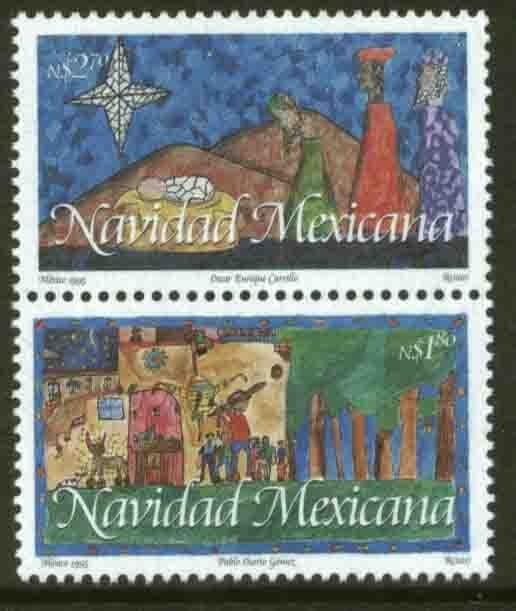 MEXICO 1944a, CHRISTMAS SEASON, 1995. PAIR. MNH. VF
