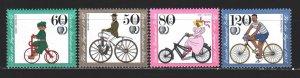 West Berlin. 1985. 735-38. Vintage bicycles. MNH.