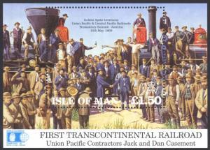 Isle of Man #518 MNH S/S CV$5.50 Columbian Expo Transcontinental Railroad