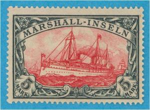GERMAN COL - MARSHALL ISLANDS 27 MINT LIGHTLY HINGED OG NO FAULTS VERY FINE