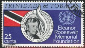 Trinidad & Tobago Scott 118 Used CTO Elanor Roosevelt stamp