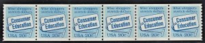 US 2005 MNH VF 20 Cent Consumers Education Plate # 2 Coil Strip of 6