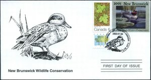 2003 New Brunswick Wildlife Green-Winged Teal by Latham