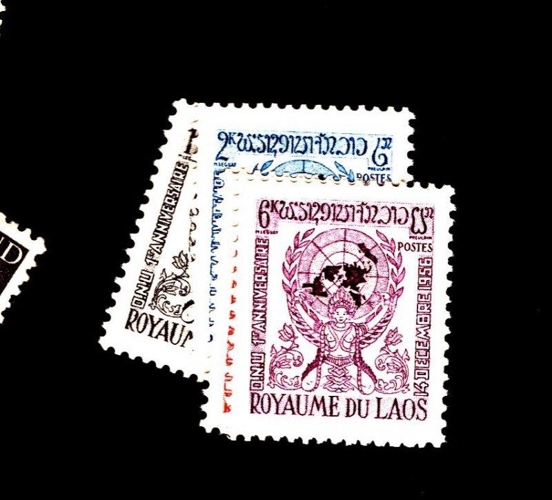 Laos #30-33 MINT VF OG LH Cat $15