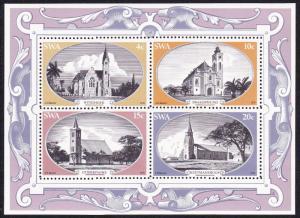 SWA Historic Churches MS SG#319-MS323 SC#422a