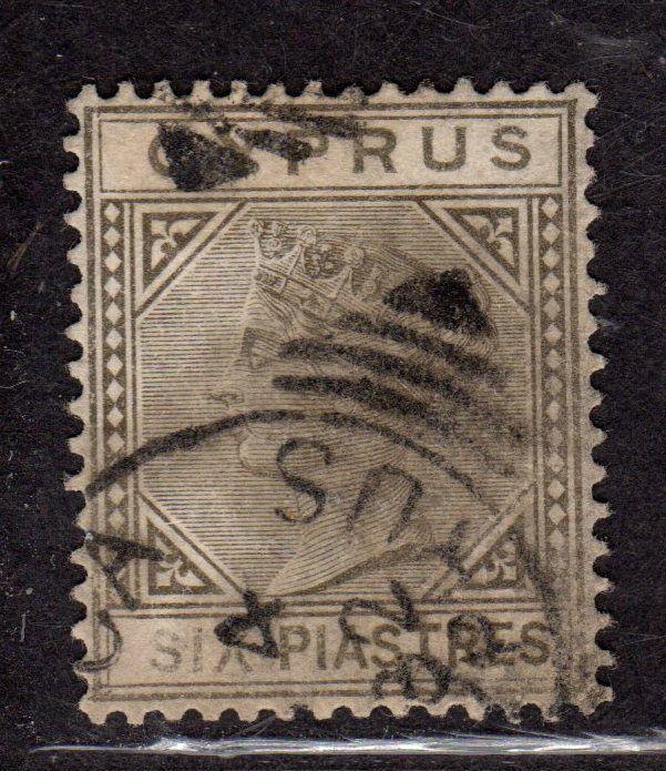 $Cyprus Sc#15 used, VF, sound stamp, WMK 1, CV. $500