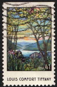 SC#4165 41¢ Louis Comfort Tiffany Booklet Single (2007) Used
