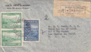 1947, Paraguay to Los Angeles, CA, Registered, Airmail, See Remark (11213)