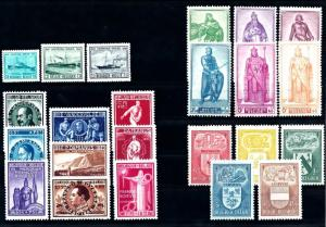 Belgium Belgien Belgique 1946 Complete Year Set without overprints MNH
