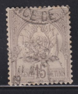 Tunisia 16 Coat of Arms 1901