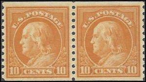 497 Mint,OG,NH... Pair... SCV $85.00