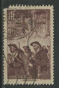 France - Scott 343 - General Issue -1938 - FU -Single 2.15fr Stamp