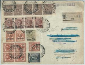 71676 - EGEO Calinno / REGNO - Storia Postale: AFFRANCATURA MISTA su BUSTA 1925