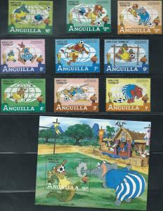 Anguilla - Disney & Football - Set of 9 Stamps + S/S - 1P-003