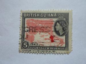 british guiana stampUSED NO HINGE MARKS, # 6