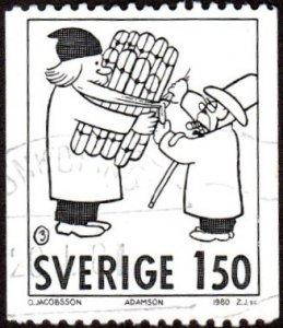 Sweden 1337 - Used - 1.50k Comics Character / Adamson (1980)