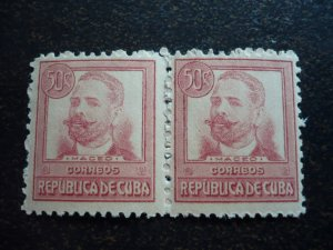 Stamps - Cuba - Scott#272 - MNH Pair
