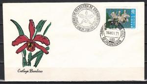 Brazil, Scott cat. 1203. Orchids issue on a First day cover. *