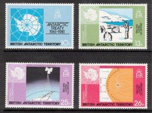 BRITISH ANTARCTIC 1982 Antarctic Treaty; Scott 82-85, SG 99-102; MNH