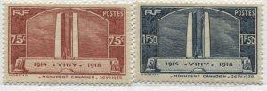 France 1936 Vimy set of 2  mint o.g.